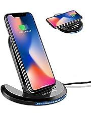 ELEGIANT Caricatore Wireless, Caricabatterie a induzione 10W Universale Senza Fili per iPhone XS Max XR x 8s iPad Samsung s10 s9 s8+ Huawei Mate 20 PRO x Xiaomi 9 Bordo Nota Nokia Google Nexus