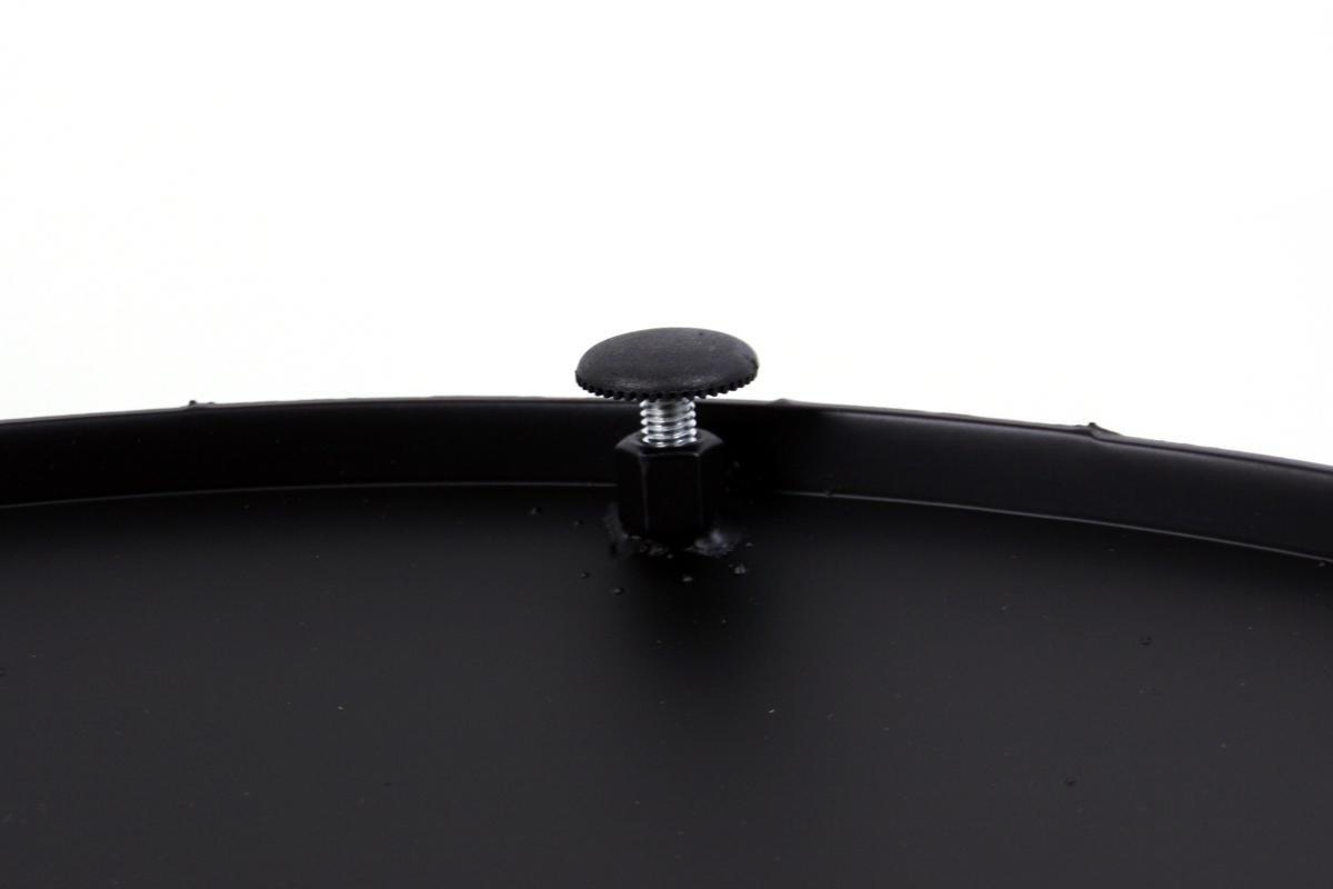 runder Fu/ß,Dresden mit verstellbaren Bodengleitern Tischfu/ß schwarzes Gestell Tischgestell 72 cm