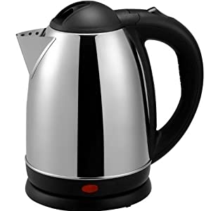 Brentwood Appliances 1.7-Liter Stainless Steel Electric Cordless Tea Kettle, 1000-watt, Brushed, Stainless Steel