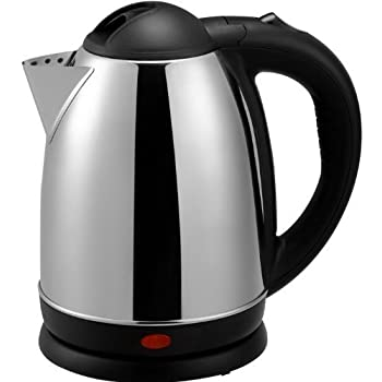 Brentwood Appliances 1.7-Liter Stainless Steel Electric Cordless Tea Kettle, 1000-watt, Brushed, Stainless Steel