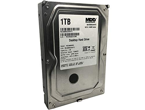 MaxDigitalData (MD1000GSA6472) 1TB 64MB Cache 7200RPM SATA 6.0Gb/s 3.5in Internal Desktop Hard Drive - 2 Years Warranty