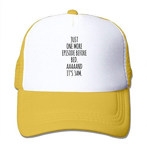 XiaoHans Momen Binge Watching Addict Funny Travel Yellow Mesh Cap Hat Adjustable - Dior Houston