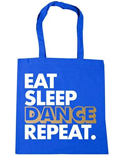 die 10 sie size Einkaufstasche Fitnessstudio liter Wiederholen 42cm Strandtasche Sleep One Blau Kornblume Tanz Eat x38cm HippoWarehouse wqxIXaPw