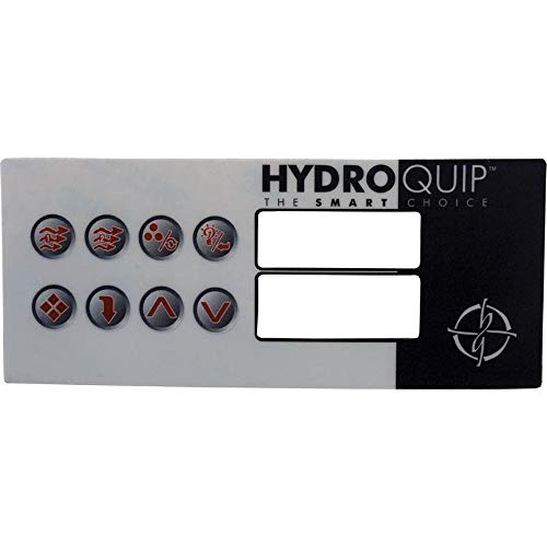 - Hydro Quip Overlay, HT2, 8 Button, Large Rec