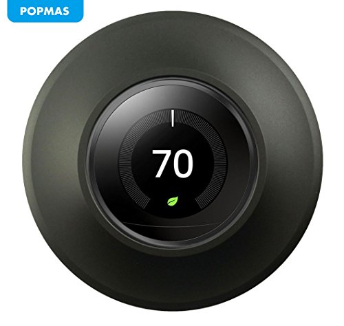 POPMAS Nest Wall Plate-Metal Wall Plate Cover Wall Plate Bracket Mount for Stainless Steel Nest Learning Thermostat 3rd, 2nd and 1st Generation Black - Thermostat Bracket