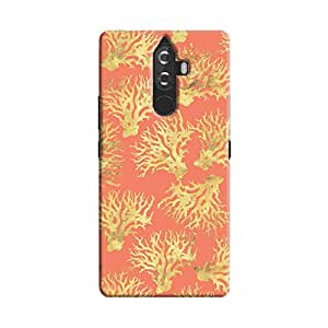 Cover It Up - Red Gold Nature Print K8 Note Hard Case