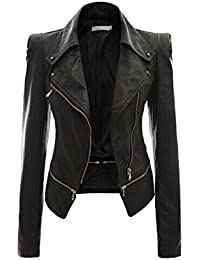 Amazon women's black leather jacket