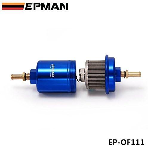 Amazon.com: EPMAN Sport Universal JDM Aluminum High Flow Performance Fuel  Filter Washable (Blue): AutomotiveAmazon.com