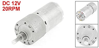 sourcingmap Double Shaft Worm Gear Motor DC 12V 250RPM High Torque Speed Reduction Motor with Metal Gearbox
