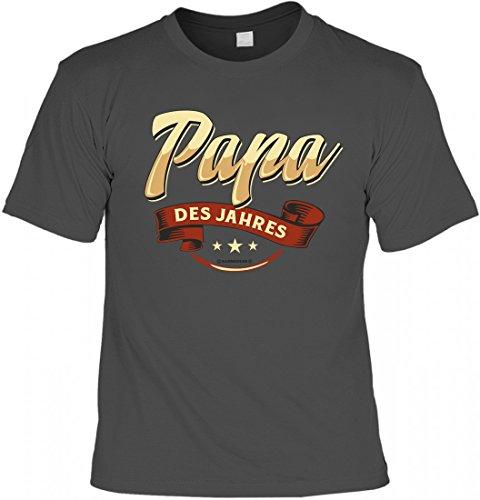 T-Shirt Spruchshirt - Papa des Jahres - lustiges Motivshirt als Geschenk zum Geburtstag oder Souvenir für den Vatertag