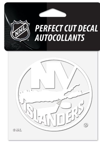 WinCraft NHL New York Islanders Logo 4quot X Inch Outdoor White Decal