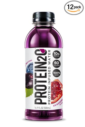 Protein2o Low-Calorie Protein Infused Water, 10g Whey Protein Isolate, Acai Blueberry Pomegranate (16.9 Ounce, Pack of 12)