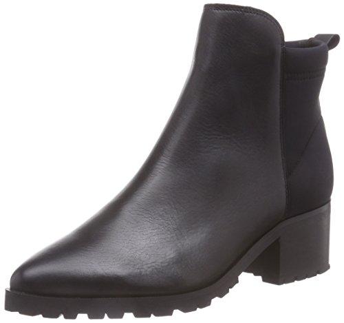 PIECES Psvalah Leather Boot Black Noos - Botas de cuero para mujer negro - negro