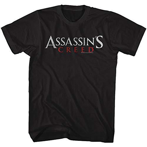 Assassin's Creed Action-Adventure Video Game Original Logo Adult T-Shirt Tee Black