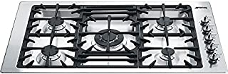 Smeg PGFU36X 36' Classic Gas Cooktop, 5 Gas Burners, Stainless Steel