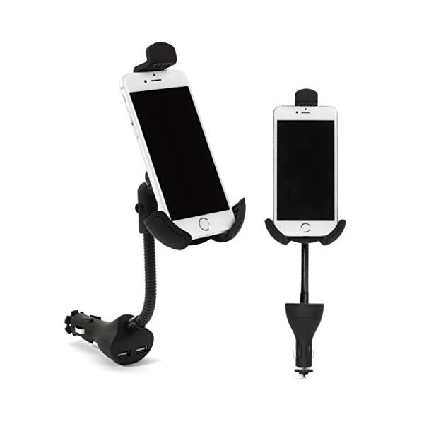 Car Mount, I Go Teck, Car Smartphone Holder Hands Free With Dual USB 3.1A Charger With Over Charge And Over Current Protection