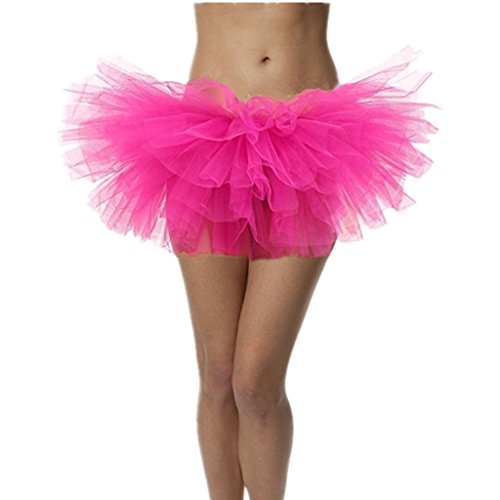 DreamHigh Sexy Adult Womens Classic 5 Layered Tulle Fancy Ballet Dress Tutu Skirts (Tutu Sexy)