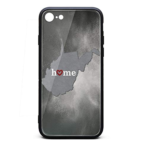 Cute Phone Case iPhone 6/6s Plus State Map Outline West Virginia with Heart in Home Apple Mobile iPhone 6s Plus Skin 6 Plus
