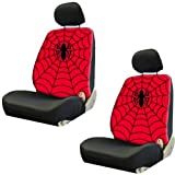 2 Spider Man Web Logo Marvel Comics Car Truck SUV Low Back Bucket Seat Covers