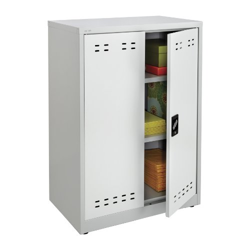 Safco products 5531gr steel storage cabinet 42 high for Kitchen cabinets 42 high