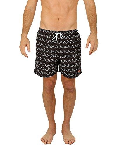 UZZI Men's Bimini Swim Trunks Black M