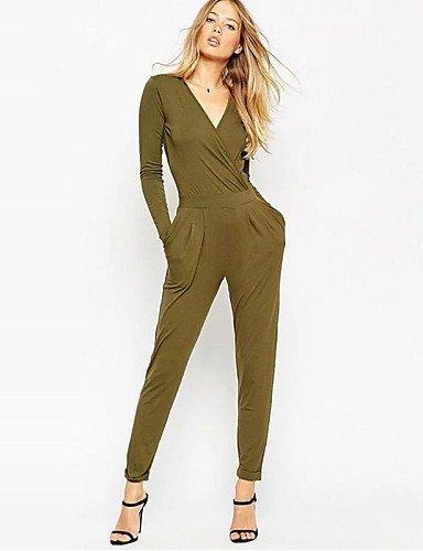 GSP-Damen Jumpsuits - Sexy Langarm Polyester Mikro-elastisch