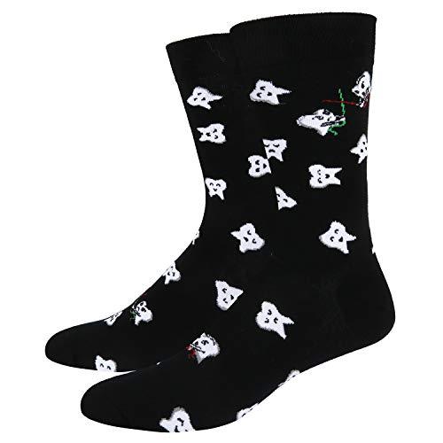 Men's Novelty Crazy Crew Dental Socks Funny Happy Teeth Patterned Socks, Dentist Gift