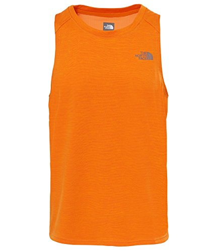 THE NORTH FACE AMBITION TANK EXUBERANCE ORANGE CANOTTA TRAINING RUNNING SS 2017-L