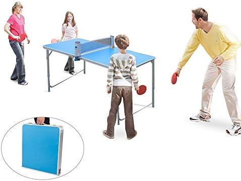 KIKILIVE Mesa de Ping Pong portátil, Mesa de Ping-Pong Plegable ...