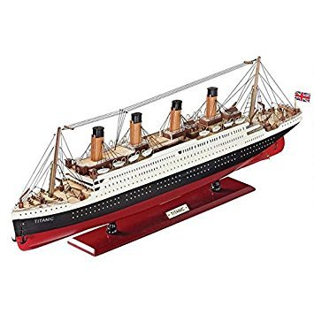 (Design Toscano The RMS Titanic Collectible Museum Replica Model Boat, 31 Inch, Hardwood, Full Color)