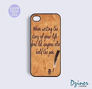 iPhone 6 Tough Case - 4.7 inch model - When Writing Story of your life Quote iPhone Cover