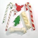 Ranch Rewards RR309 22 7-Piece Rawhide Holiday Stocking Dog Treats, X-Large, My Pet Supplies