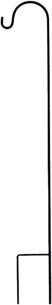 Yardwe Shepherd Hook 35.4in Tall Anti-Rust Iron Outdoor Stand Hanger Garden Hanging Plants Hanger Bird Feeder Pole Garden Stakes for Pathway Light Solar Lantern (Black)