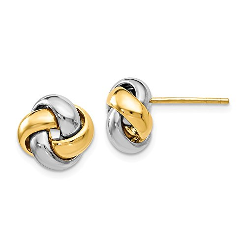 Top 10 Jewelry Gift Leslie's 14k Two-tone Polished Love Knot Earrings by Jewelry Brothers Earrings (Image #1)