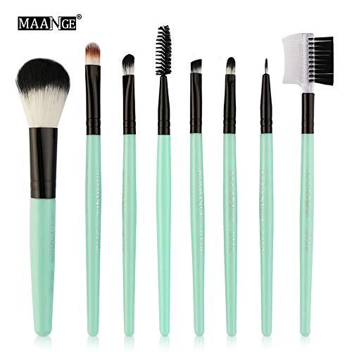 (CCatyam Makeup Brushes Set, 8 pcs Foundation Eyebrow Eyeliner Blush Cosmetic Concealer Brushes Handle Tool Kit )
