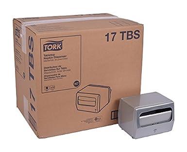 "Tork 17TBS Masterfold Tabletop Napkin Dispenser, 5.625"" Height x 7.5"" Width x 6.25"""