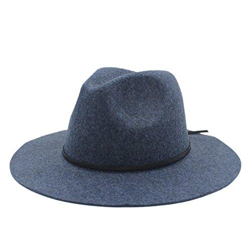 Hemp Wool Hat - Shufang-hats, SF Fedora Hat, 100% Hemp Wool Wide Brim Winter Autumn Floppy Felt Trilby Fedora Hat For Elegant Womem Men Top Cloche Panama Church Cap (Color : 6, Size : 56-59cm)