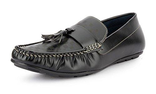 Gekko Mens Shoes-396 - Zapatos de Cordones de Material Sintético Para Hombre Negro Negro 44