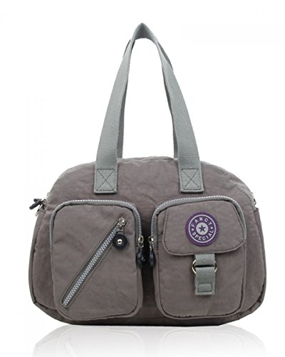 Dark Crossed Craze Woman Nylon London Bag Gray Raan1Iwq
