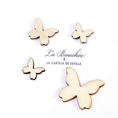 Amazon.com: Autumn - Mariposas de madera para manualidades ...