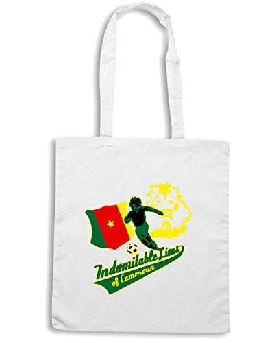 T-Shirtshock - Bolsa para la compra WC0158 CAMEROON Blanco