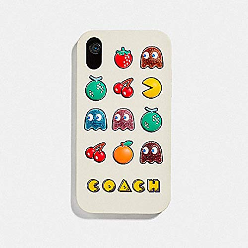 Coach iPhone XR Case with Pac-Man Motif, Chalk Multi ()