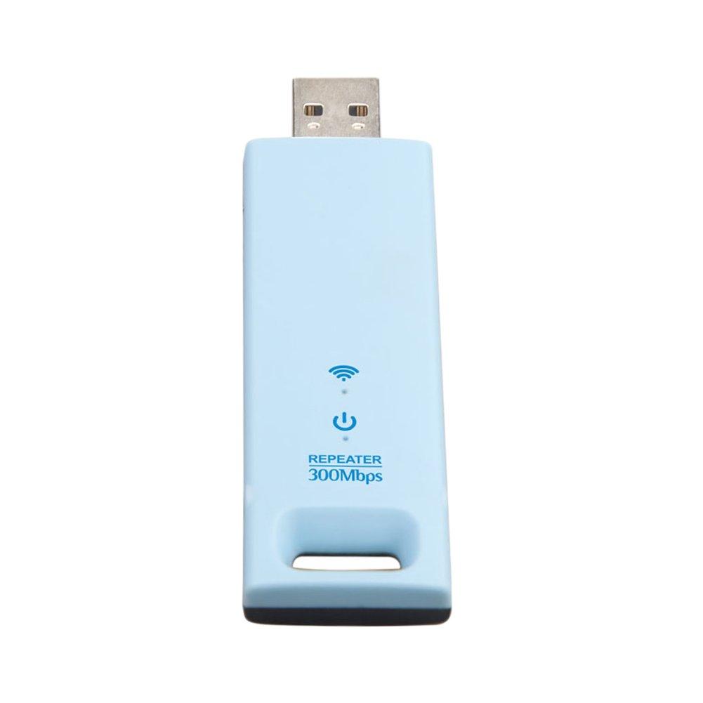 Repetidor de amplificador de rango WiFi USB Repetidor Extensor de rango inalámbrico de 802.11N 300Mbps Repetidor de amplificador de señal de doble antena ...
