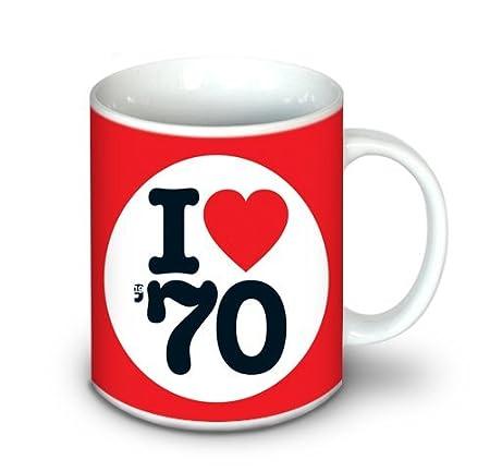 1970 Regalos de Cumpleaños - I Love 1970 Taza: Amazon.es: Hogar