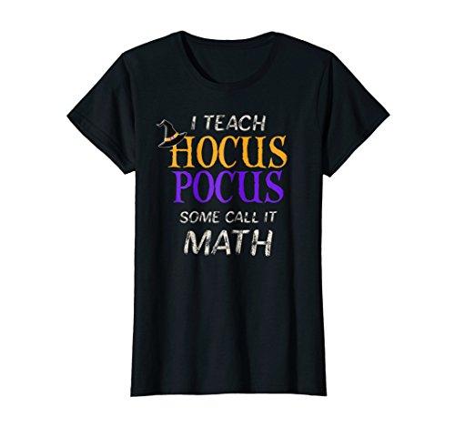 Womens Teach Hocus Pocus Math Halloween Teacher Gift