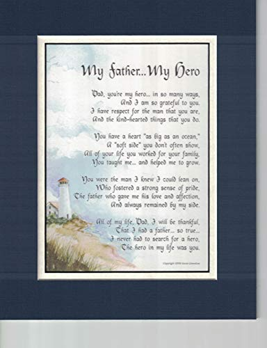 My Father My Hero, A Touching Sentimental Poem Present For Dad's 60th 70th 80th Birthday #18