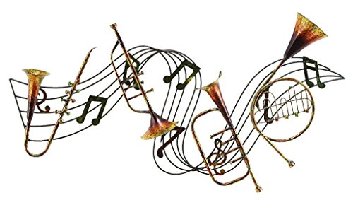 Deco 79 A Metal Musical Decor a Musical Wall Decor]()