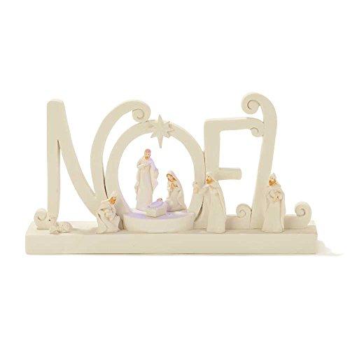 Noel Nativity LED Lighted 6.5 x 4.5 Resin Stone Christmas Nativity Scene Figurine