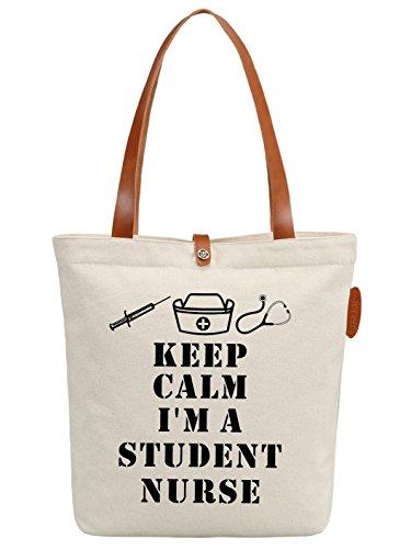 IN.RHAN Women's Nurse Graphic Canvas Tote Bag Casual Shoulder Bag Handbag