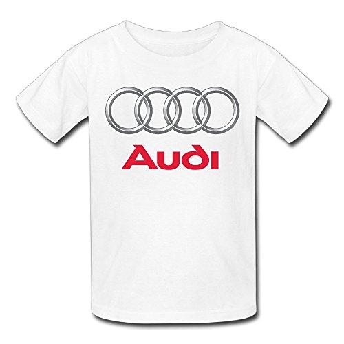 Youth Audi Logo T Shirt White